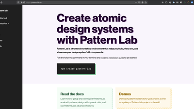 Pattern Lab bei ruhmesmeile